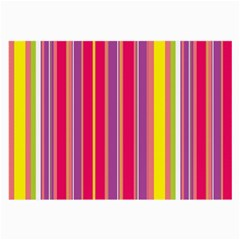 Stripes Colorful Background Large Glasses Cloth (2-Side)