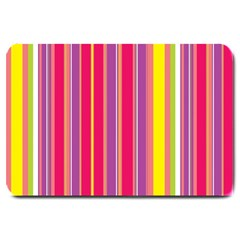 Stripes Colorful Background Large Doormat