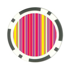 Stripes Colorful Background Poker Chip Card Guard