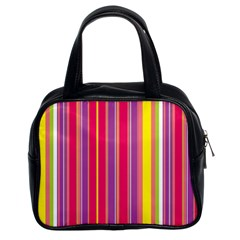 Stripes Colorful Background Classic Handbags (2 Sides)
