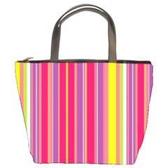 Stripes Colorful Background Bucket Bags