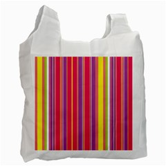 Stripes Colorful Background Recycle Bag (Two Side)