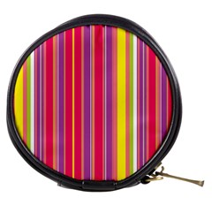 Stripes Colorful Background Mini Makeup Bags