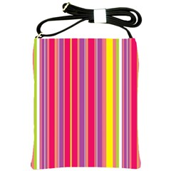 Stripes Colorful Background Shoulder Sling Bags