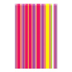 Stripes Colorful Background Shower Curtain 48  x 72  (Small)