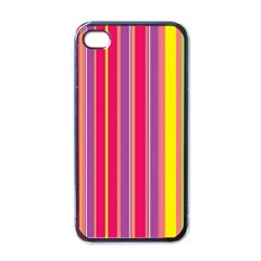 Stripes Colorful Background Apple iPhone 4 Case (Black)