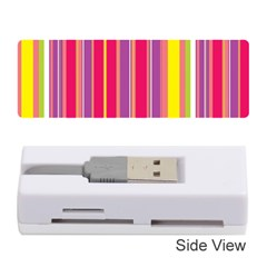 Stripes Colorful Background Memory Card Reader (stick)