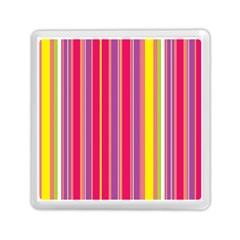 Stripes Colorful Background Memory Card Reader (square)