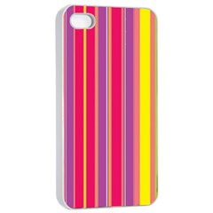 Stripes Colorful Background Apple iPhone 4/4s Seamless Case (White)