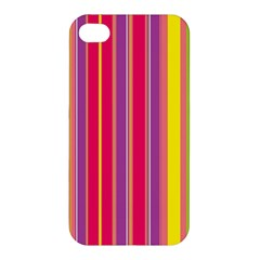 Stripes Colorful Background Apple iPhone 4/4S Hardshell Case