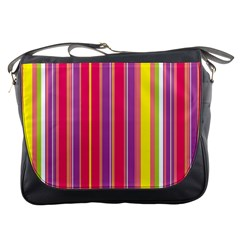 Stripes Colorful Background Messenger Bags