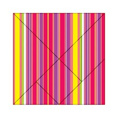 Stripes Colorful Background Acrylic Tangram Puzzle (6  x 6 )