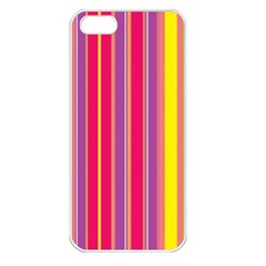 Stripes Colorful Background Apple iPhone 5 Seamless Case (White)