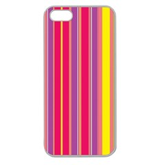 Stripes Colorful Background Apple Seamless iPhone 5 Case (Clear)