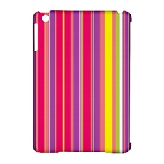 Stripes Colorful Background Apple iPad Mini Hardshell Case (Compatible with Smart Cover)