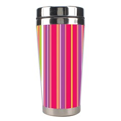 Stripes Colorful Background Stainless Steel Travel Tumblers