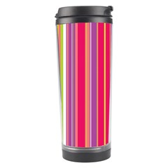 Stripes Colorful Background Travel Tumbler