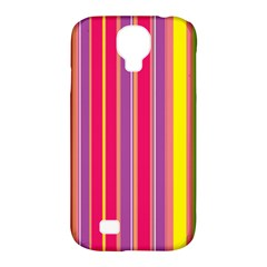 Stripes Colorful Background Samsung Galaxy S4 Classic Hardshell Case (PC+Silicone)
