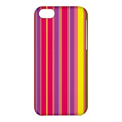 Stripes Colorful Background Apple iPhone 5C Hardshell Case