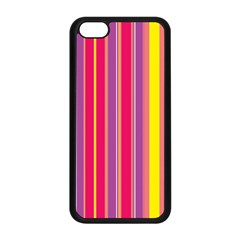 Stripes Colorful Background Apple iPhone 5C Seamless Case (Black)