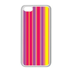 Stripes Colorful Background Apple iPhone 5C Seamless Case (White)
