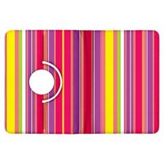 Stripes Colorful Background Kindle Fire HDX Flip 360 Case
