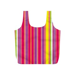 Stripes Colorful Background Full Print Recycle Bags (S)