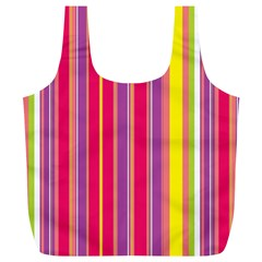 Stripes Colorful Background Full Print Recycle Bags (L)