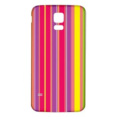 Stripes Colorful Background Samsung Galaxy S5 Back Case (White)