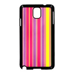 Stripes Colorful Background Samsung Galaxy Note 3 Neo Hardshell Case (black)