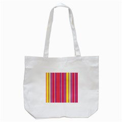 Stripes Colorful Background Tote Bag (White)