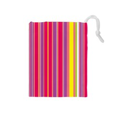Stripes Colorful Background Drawstring Pouches (medium)