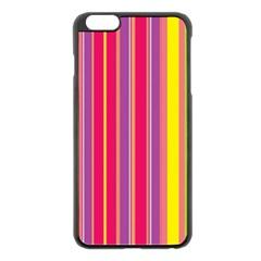 Stripes Colorful Background Apple Iphone 6 Plus/6s Plus Black Enamel Case