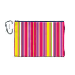 Stripes Colorful Background Canvas Cosmetic Bag (M)