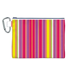 Stripes Colorful Background Canvas Cosmetic Bag (L)