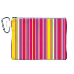 Stripes Colorful Background Canvas Cosmetic Bag (XL)