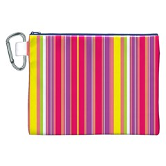 Stripes Colorful Background Canvas Cosmetic Bag (XXL)