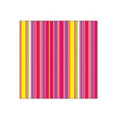 Stripes Colorful Background Satin Bandana Scarf