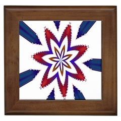 Fractal Flower Framed Tiles
