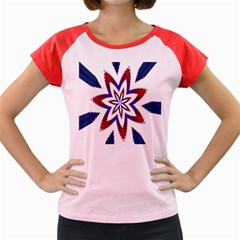 Fractal Flower Women s Cap Sleeve T-Shirt
