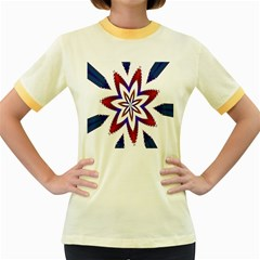 Fractal Flower Women s Fitted Ringer T-Shirts