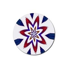 Fractal Flower Rubber Coaster (round)