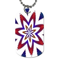 Fractal Flower Dog Tag (one Side)
