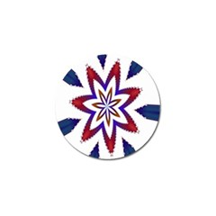 Fractal Flower Golf Ball Marker (4 pack)