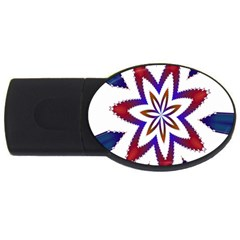 Fractal Flower USB Flash Drive Oval (4 GB)