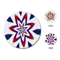 Fractal Flower Playing Cards (Round)
