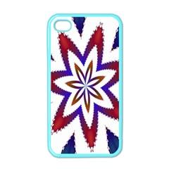 Fractal Flower Apple iPhone 4 Case (Color)