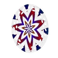 Fractal Flower Ornament (Oval Filigree)