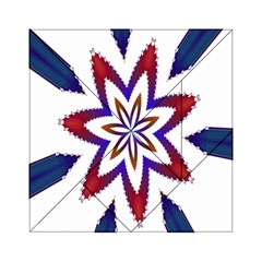 Fractal Flower Acrylic Tangram Puzzle (6  x 6 )