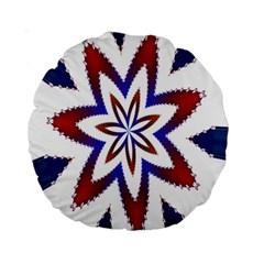 Fractal Flower Standard 15  Premium Round Cushions